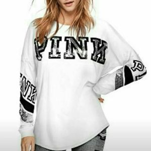 VS PINK bling campus Tee xs